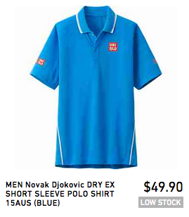 Novak Djokovic Australian Open 2015 Shirt