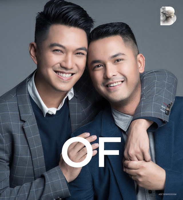 Bench Gay Couple in Love All Kinds of Love Ad Campaign