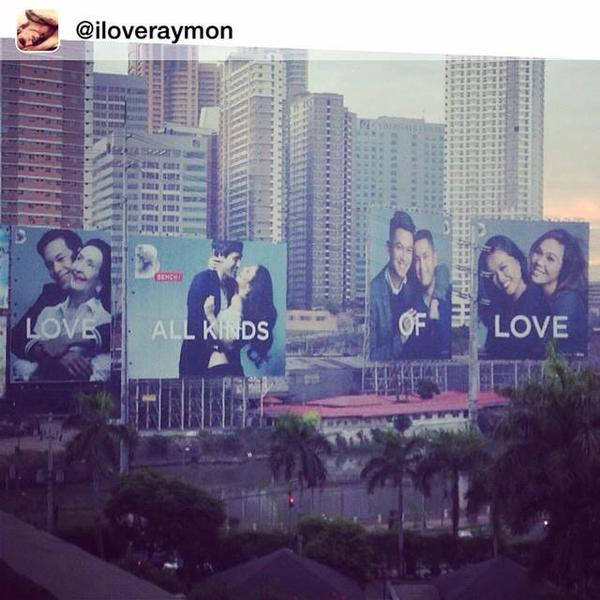 Bench Love all kinds of love billboard guadalupe