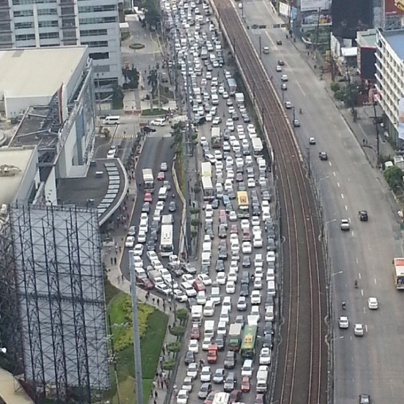 EDSA Traffic during the 2015 People Power Celebrations