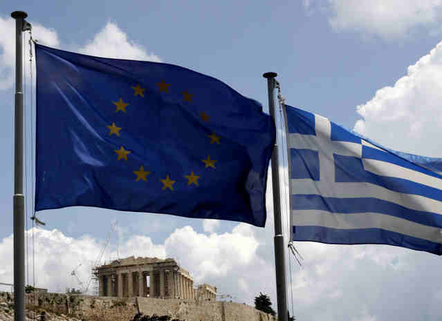 eu greece flags