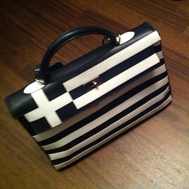Hermes kelly bag Greece flag