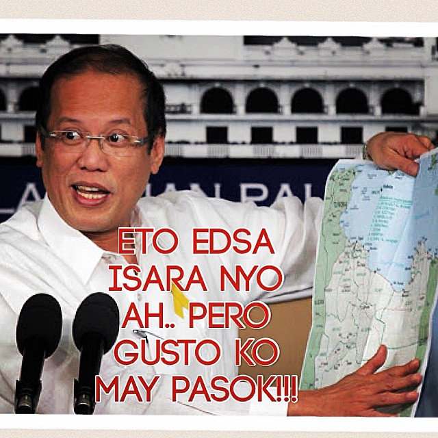 Meme of President Aquino ordering EDSA closure