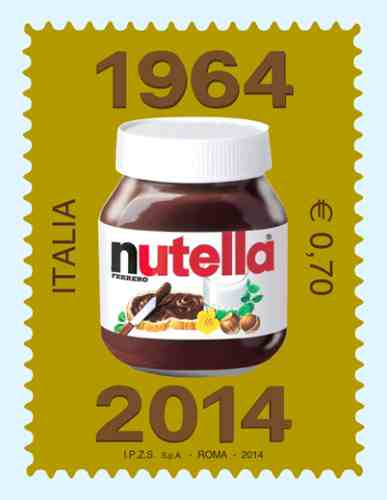 Nutella 50 year stamp
