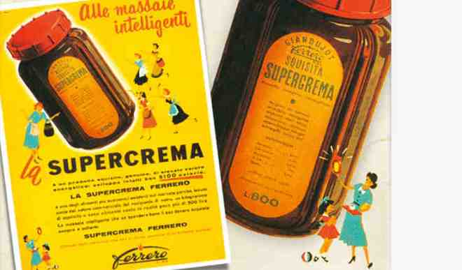 Supercrema, the precursor of Nutella