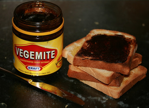 Vegemite with bread
