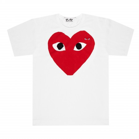 Authentic CDG Play red heart shirt