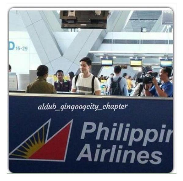 Alden Richards Took Philippine Airlines to Bicol