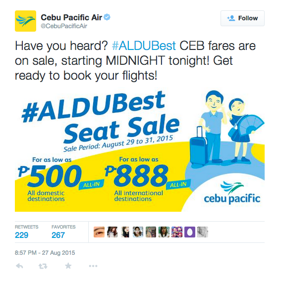 #ALDUBest seat sale Cebu Pacific