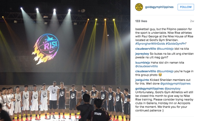 Golds Gym Philippines Thanks Sheridan Members For Their Patience