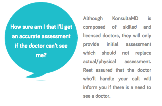 Konsulta MD question about accurate  assessment
