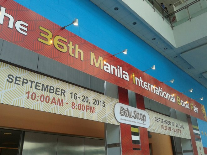 36th Manila International Book Fair at SMX signage