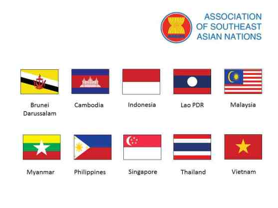 Association of South East Asian Nations - Flags of Countries