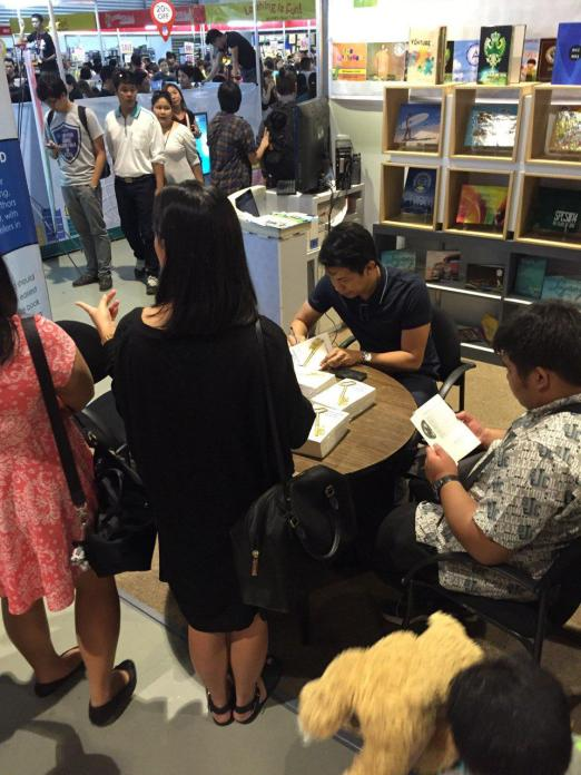 My book sigining at the 2015 (36th) Manila International Book Fair