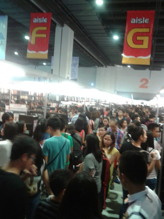 Crowds at the 2015 (36th) Manila International Book Fair at SMX
